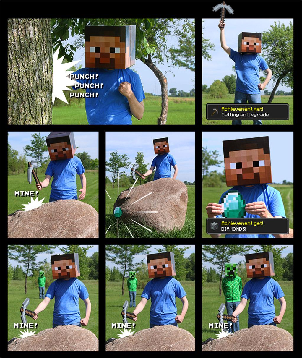 Minecraft comic part 1