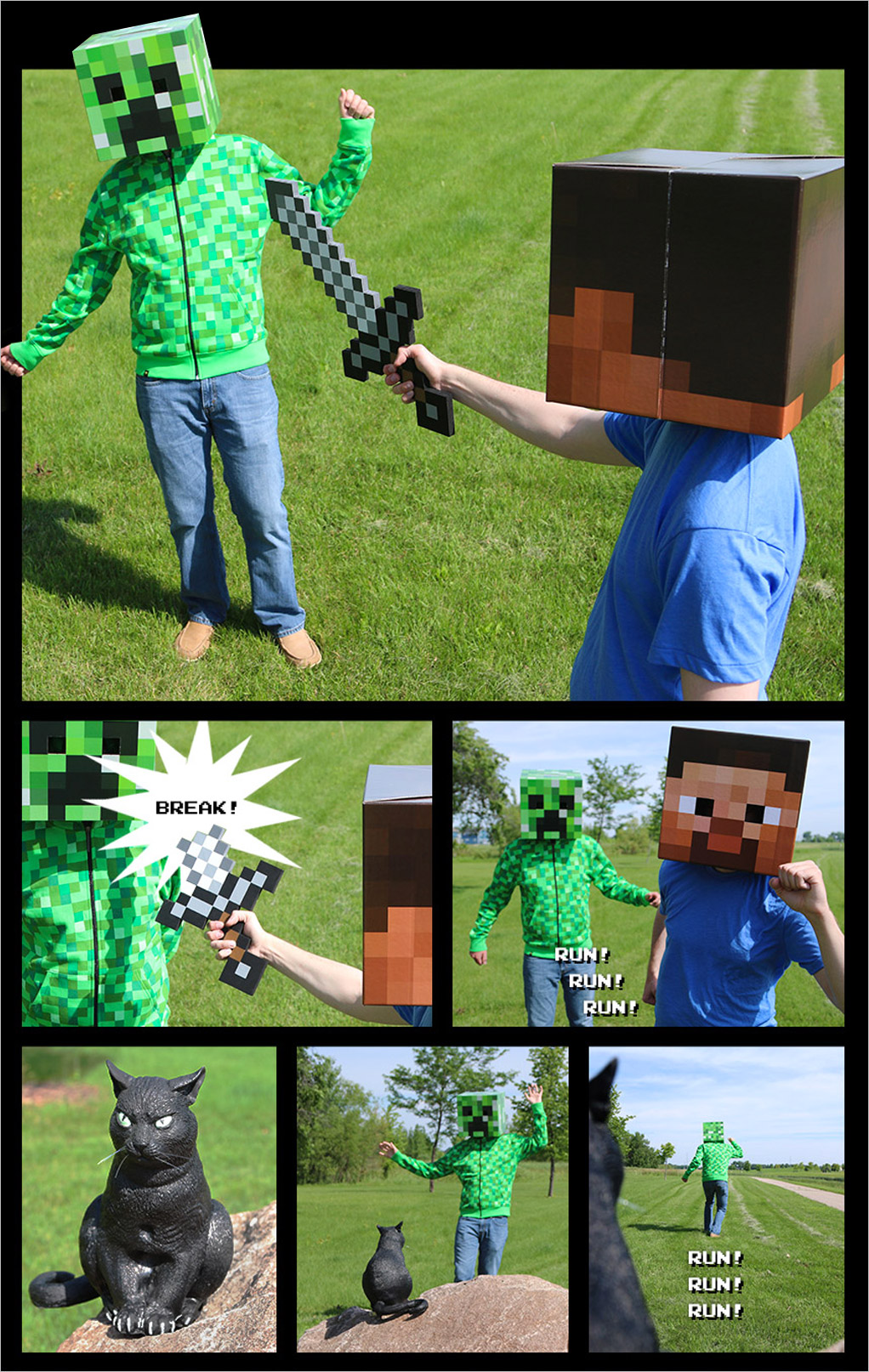 Minecraft comic part 2