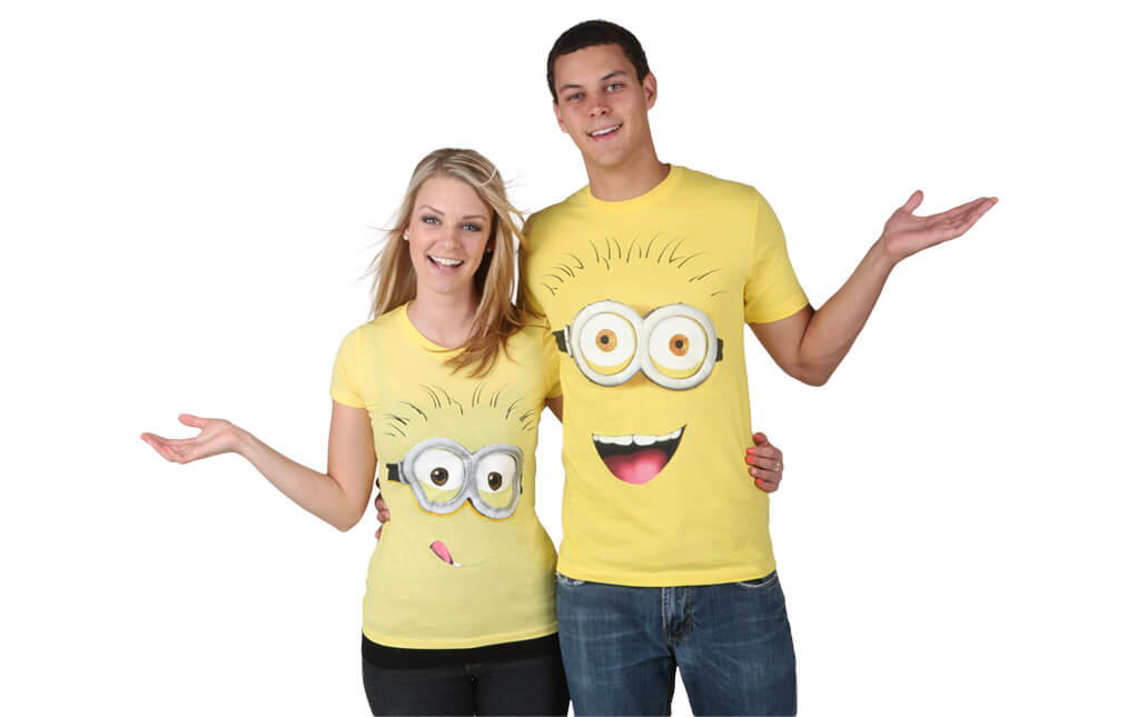 Last minute couples costume idea Minion T-shirts and hoodies are not only ridiculously easy to wear but they are also ultra-comfortable.  sc 1 st  Halloween Costumes & Despicable Me Minion Costumes - HalloweenCostumes.com