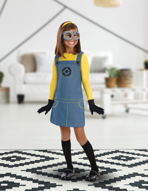 Girls' Minion Costume