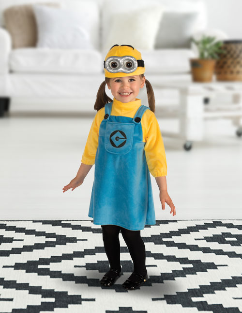Toddler Girl Minion Costume