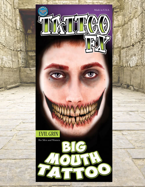 Big Mouth Temporary Tattoo