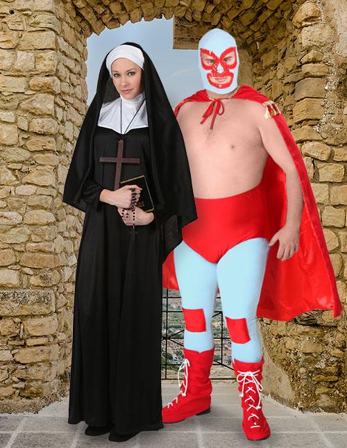 Nacho Libre and Nun Costume