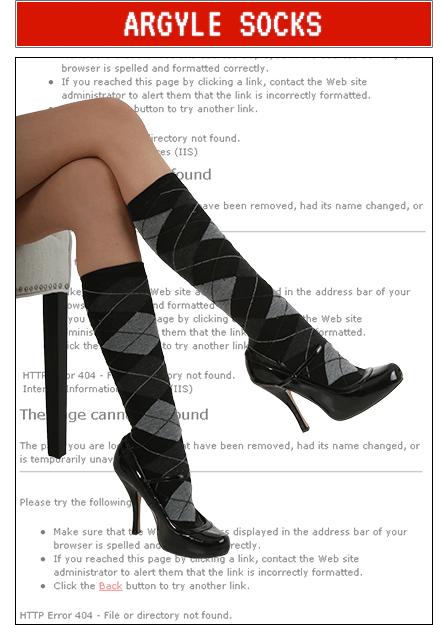 Argyle Socks Accessory