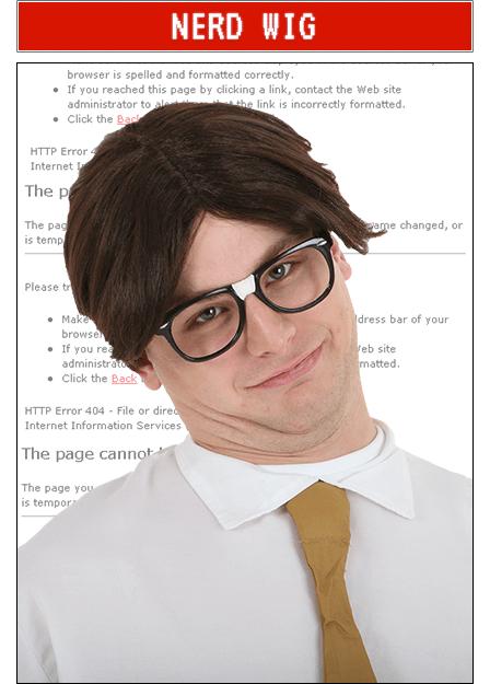 Nerd Wig Accessory