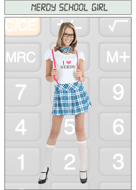 Nerdy School Girl Costume