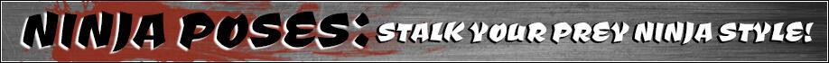 Ninja Poses: Stalk Your Prey Ninja Style!