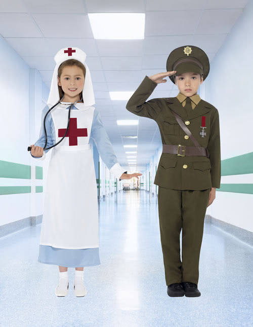 Vintage Nurse Costume and Soldier