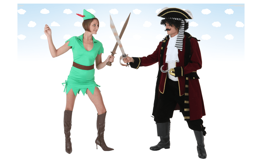 Peter Pan and Hook Costumes