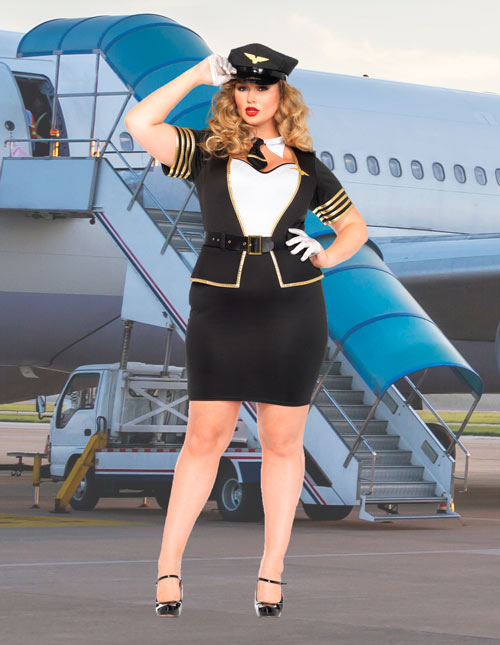 Plus Size Airline Pilot Uniform