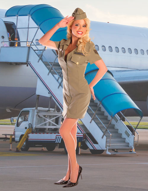 Fly Girl Military Costume