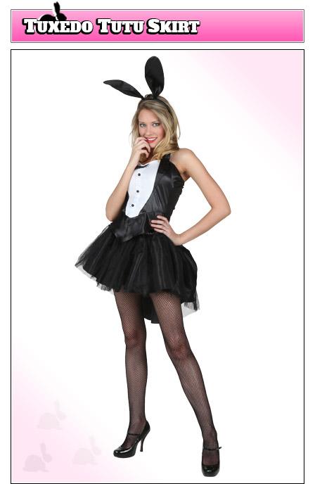 Playboy Bunny Costume with Tutu Skirt