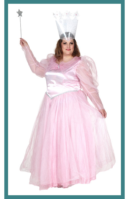 Full Coverage Womens Plus Size Glinda Costume