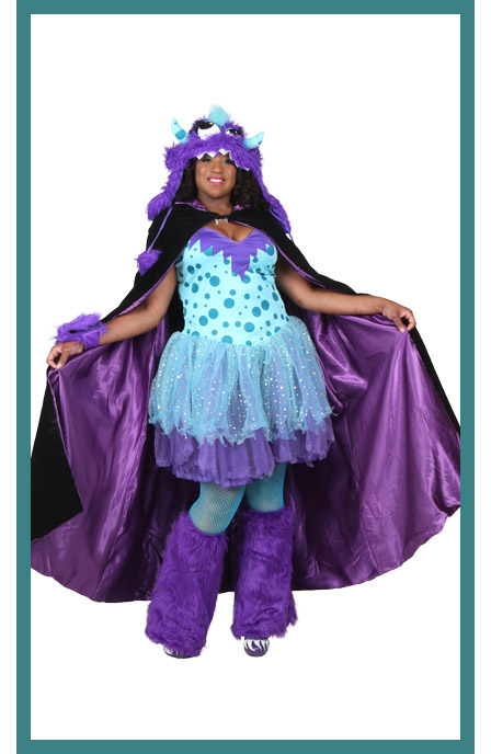 Womens Plus Size Sexy Monster Costume