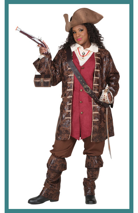 Full Coverage Womens Plus Size Pirate Costume