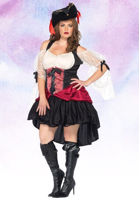 Womenu0027s Plus Size Wicked Wench Costume  sc 1 st  Halloween Costumes : halloween costumes for big women  - Germanpascual.Com