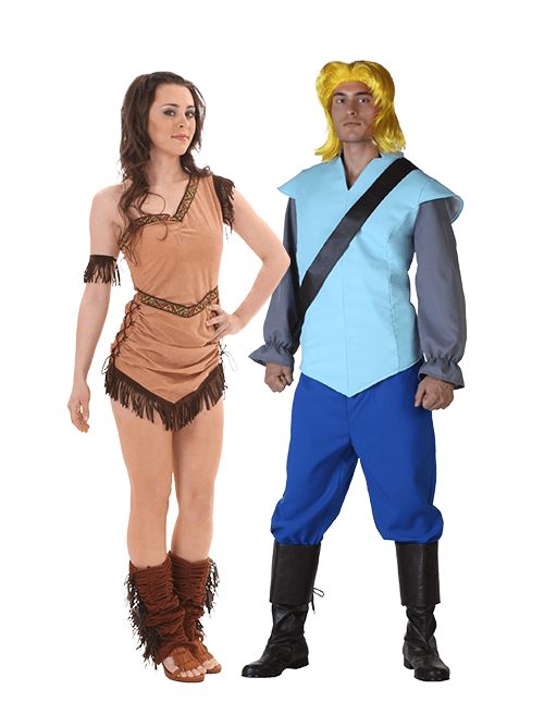 Pocahontas and John Smith Couples Costume