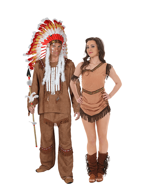 Pocahontas and Indian Chief Couples Costume