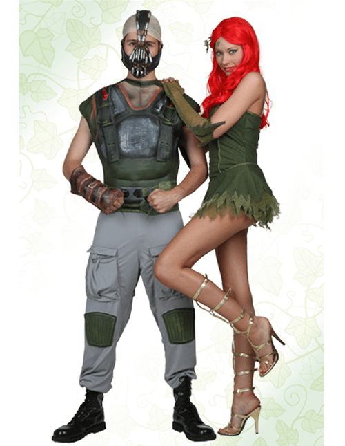 Poison Ivy and Bane Costumes