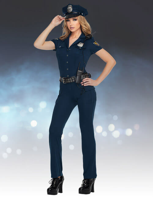 Police officer sexy cop costumes halloweencostumes womens cop jumpsuit solutioingenieria Images