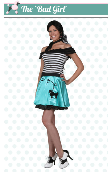 The Bad Girl Poodle Skirt Costume  sc 1 st  Halloween Costumes & Poodle Skirts