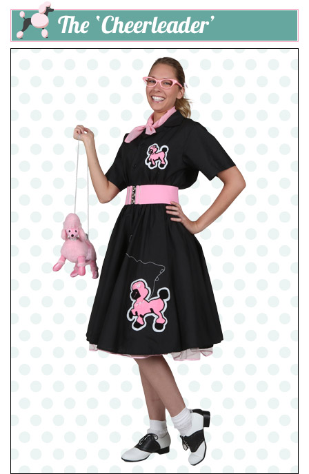 The Cheerleader Poodle Skirt Look