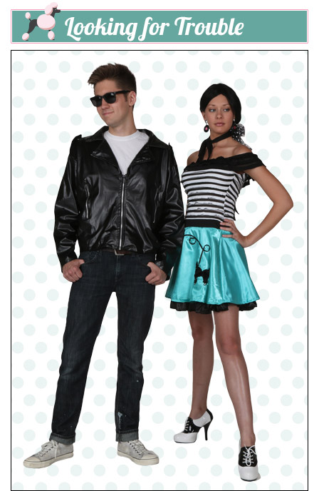 Trouble Poodle Skirt Couples Costume