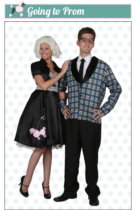 Prom Poodle Skirt Couples Costume