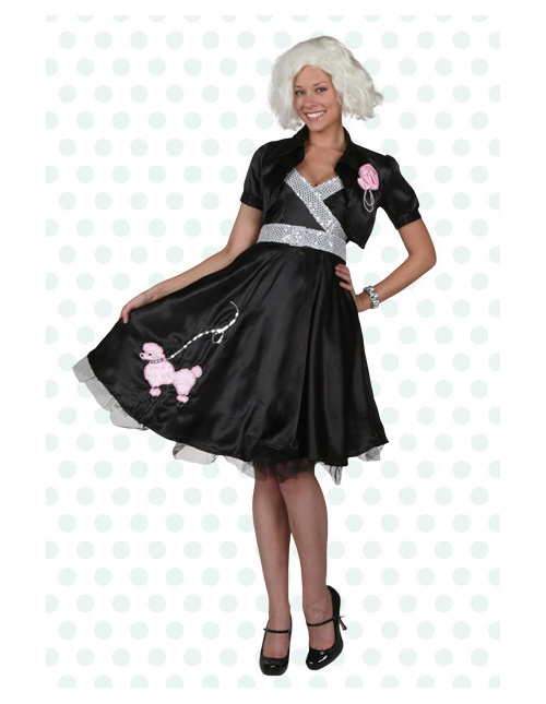 Prom Queen Black Poodle Skirt