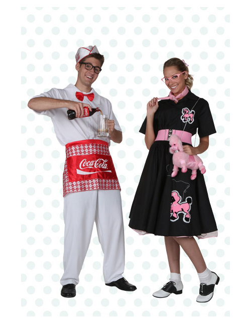 Soda Jerk and Poodle Skirt Costumes