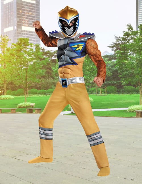 Kids Dino Charge Gold Ranger Costume