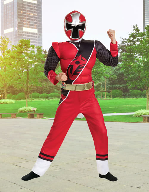 Kids Ninja Steel Red Ranger Costume