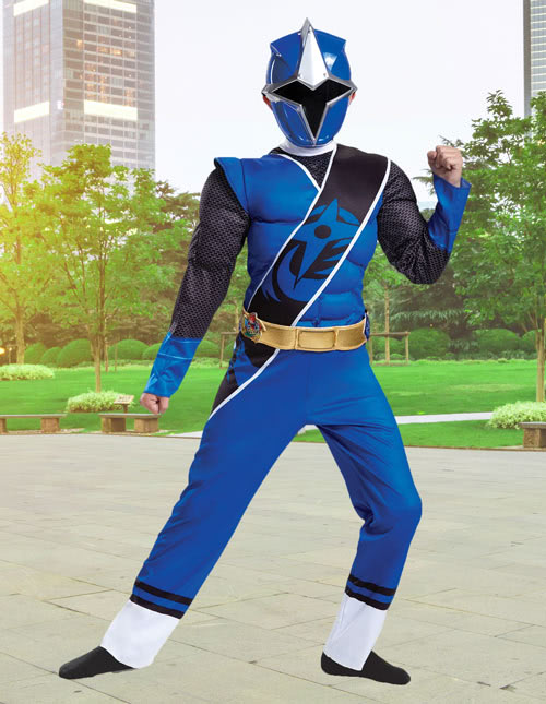 Kids Ninja Steel Blue Ranger Costume