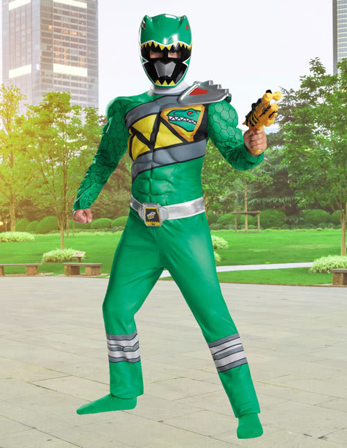 Kids Dino Charge Green Ranger Costume