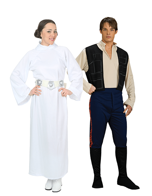 Princess Leia and Han Solo Couples Costumes