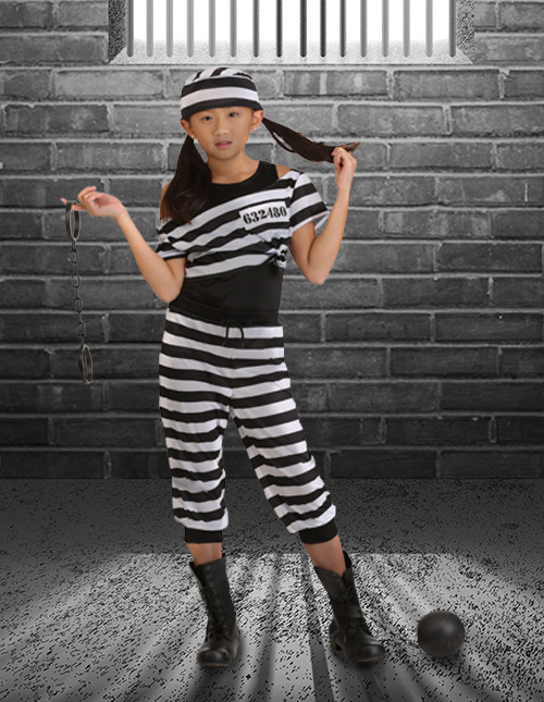 Striped Prisoner Costume