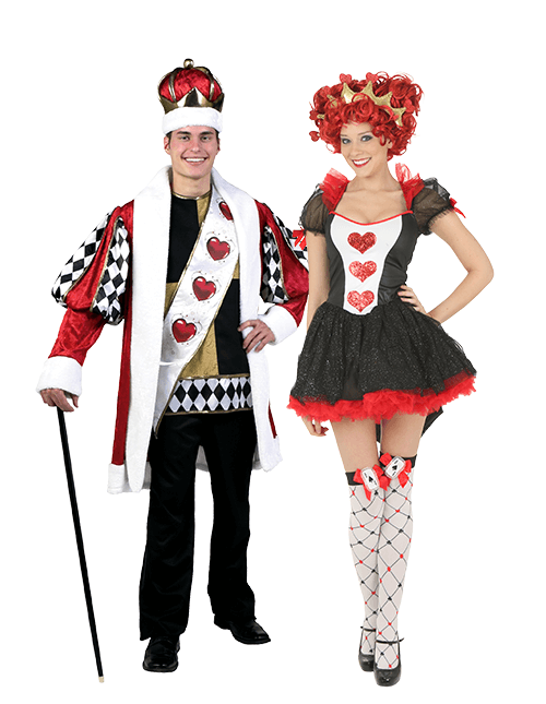 King and Queen of Hearts Couples Costumes