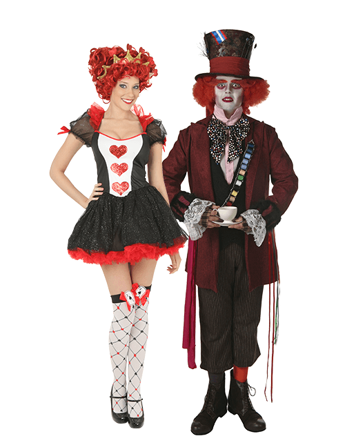 Mad Hatter and Queen of Hearts Couples Costumes