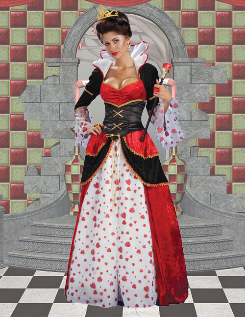 Queen Of Hearts Costumes Plus Size Child Adult Queen Of