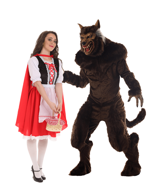 red riding hood and werewolf couples costumes - Little Miss Sunshine Halloween Costume