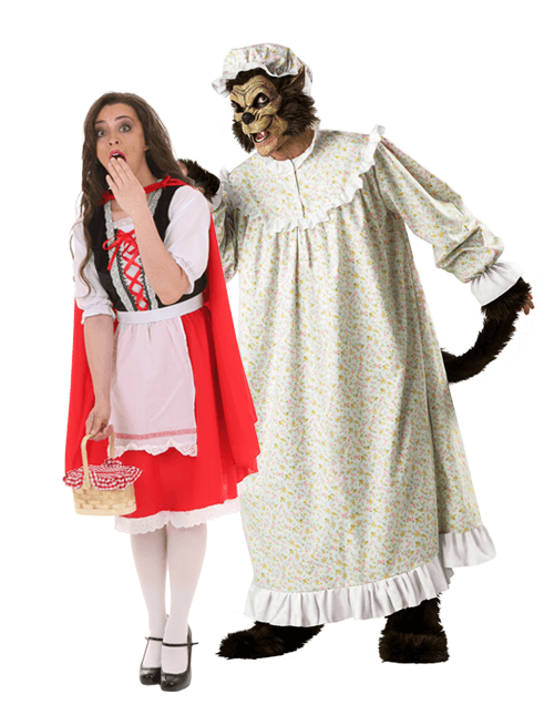 Red Riding Hood and the Big Bad Wolf Couples Costumes
