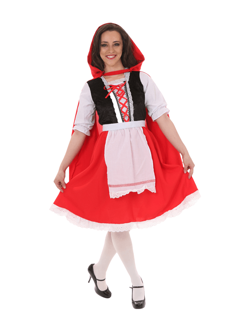 Red Riding Hood Cheerful Curtsey Pose