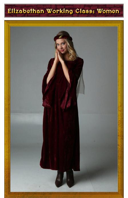 Elizabethan Working Class Womens Renaissance Costume