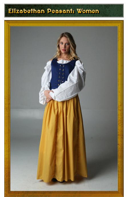Elizabethan Peasant Womens Renaissance Costume