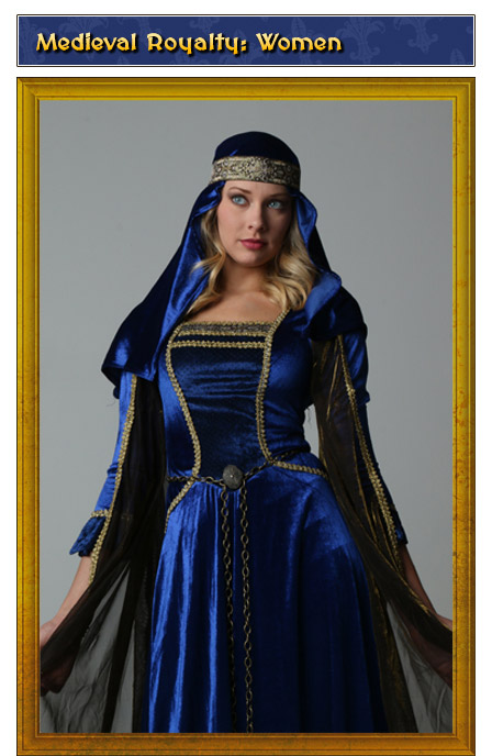 Medieval Royalty Womens Renaissance Costume