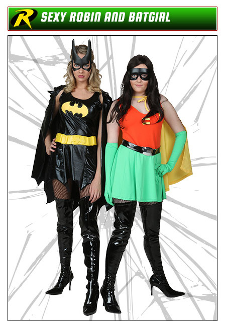 Sexy Robin and Batgirl Costumes  sc 1 st  Halloween Costumes : batman and robin girl costumes  - Germanpascual.Com