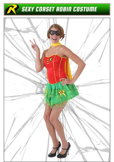 Sexy Corset Robin Costume
