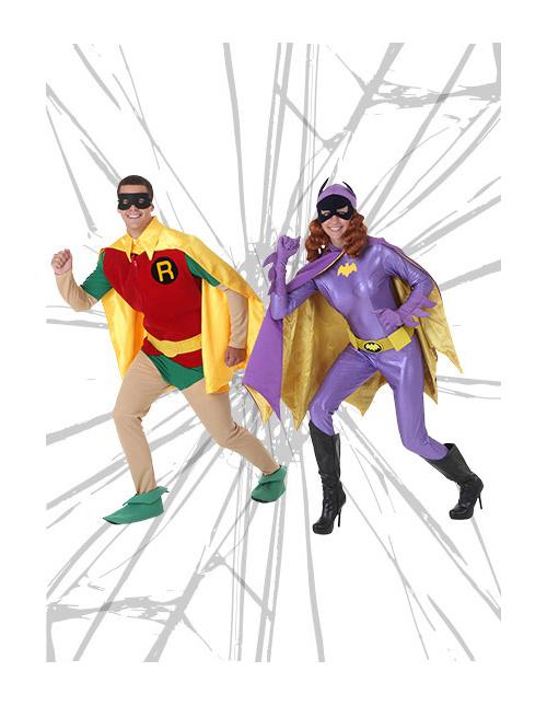 Classic Robin and Batgirl Costumes
