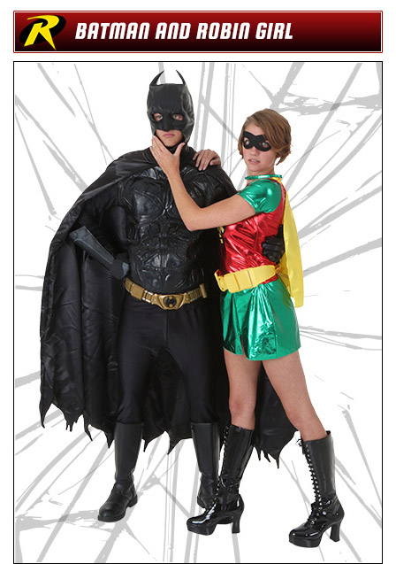 Batman and Robin Couples Costume Ideas  sc 1 st  Halloween Costumes : batman and robin girl costumes  - Germanpascual.Com