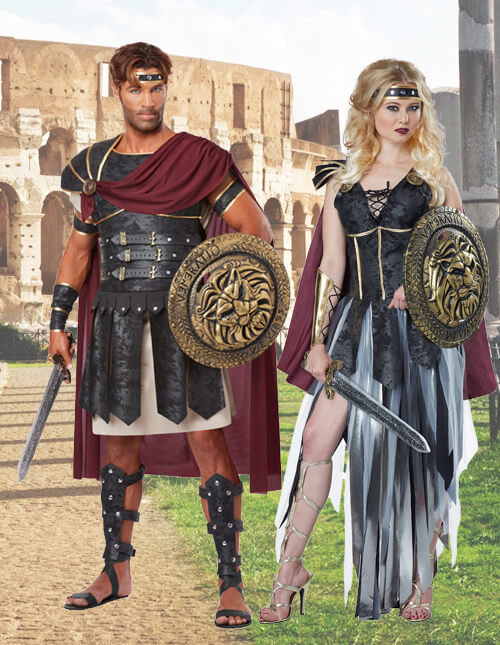 Couples Gladiator Costumes  sc 1 st  Halloween Costumes & Roman Warriors u0026 Greek Goddess Costumes - HalloweenCostumes.com